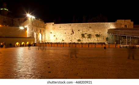 Western wall at night, Jerusalem