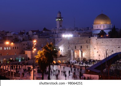 The Western Wall is the remnant of the ancient wall that surrounded the Jewish Temple's courtyard in jerusalem, Israel. Dome of the Rock is a Muslim Shrine located on the Temple Mount itself.