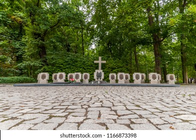 Westerplatte -cemetery of the polish soldiers. Westerplatte was one of the first battles in Germany's invasion of Poland, marking the start of World War II in Europe.