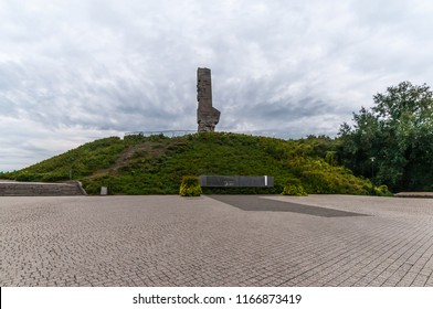 Westerplatte - Monument of the Coast Defenders. Westerplatte was one of the first battles in Germany's invasion of Poland, marking the start of World War II in Europe.