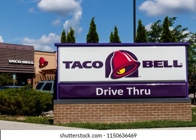 Westfield - Circa July 2018: Taco Bell Retail Fast Food Location. Taco Bell is a Subsidiary of Yum! Brands I