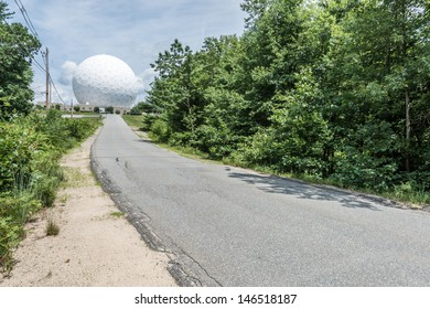 WESTFORD, MASSACHUSETTS - JULY 16: Haystack Observatory, an astronomy observatory owned by Massachusetts Institute of Technology (MIT), in Westford MA USA, on July 16, 2013. Began operating in 1964.
