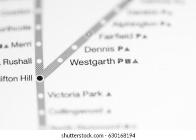 Westgarth Station. Melbourne Metro map.