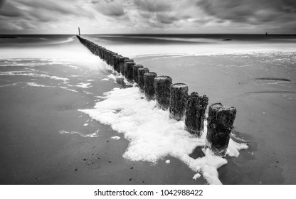 Westkapelle wavebreakers, Zeeland, Netherlands