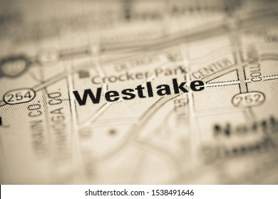 Westlake on a map of the United States of America