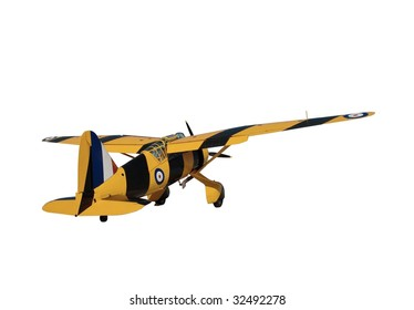 Westland Lysander vintage aircraft isolated on white
