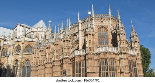 The Westminster Abbey church in London UK