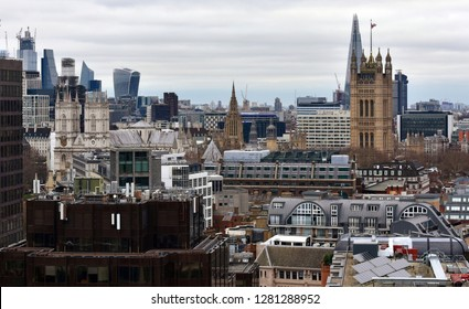 Westminster Abbey and Victoria Tower from Westminster Cathedral lookout. London, United Kingdom.