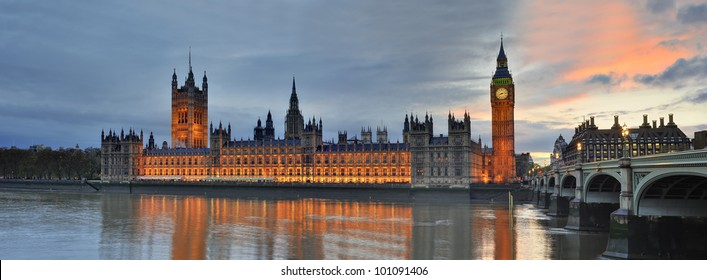 Westminster with Big Ben of London