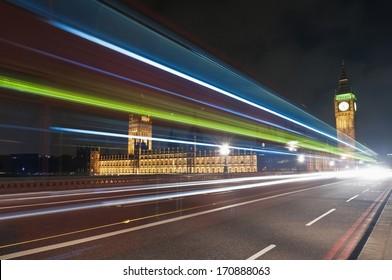 Westminster Bridge across Thames river at London, England
