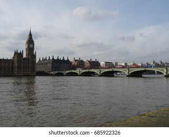 Westminster Bridge and Big Ben, in London