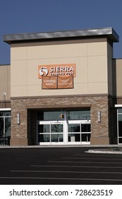 WESTMINSTER, CO/U.S.A. - September 3, 2017: New Sierra Trading Post retail store, entrance doors and parking lot
