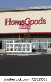 WESTMINSTER, CO/U.S.A. - September 3, 2017: New Home Goods Store Sign, entrance doors and parking lot
