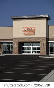 WESTMINSTER, CO/U.S.A. - September 3, 2017:New Sierra Trading Post store front, entrance doors and parking lot