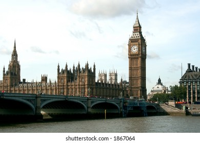 Westminster Palace and Bridge, London