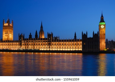 Westminster Palace London at night