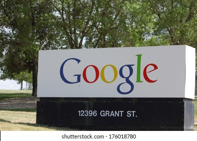 Westminster,Colorado/U.S.A. - June 11, 2011: Google Incorporation's entrance sign at there Westminster corporate office.