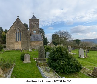 Weston-in-Gordano, England - Feb 6, 2018: St Peter and St Paul's Church - West Facade