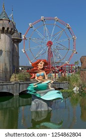 WESTON-SUPER-MARE, UK - SEPTEMBER 10, 2015: Dismaland, an exhibition curated by the artist Banksy at the Tropicana, the town's former lido.