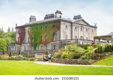 WESTPORT, IRELAND - AUGUST 7, 2019: Westport House in Westport, County Mayo, Ireland, is a well known Irish tourist attraction. It has been called the most beautiful house in Ireland.