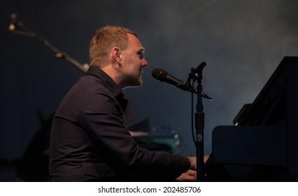 Westport,Ireland-June 28th -David Gray performs live at the Westport Festival,Westport House,County Mayo on June 28th 2014 in Westport,Ireland.David Gray released his first studio album in 1993.