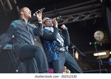 Westport,Ireland-June 29th , Kool and the Gang perform live at the Westport Festival,Westport House,County Mayo on June 29th 2014  in Westport,Ireland. The band have sold over 70 million albums.