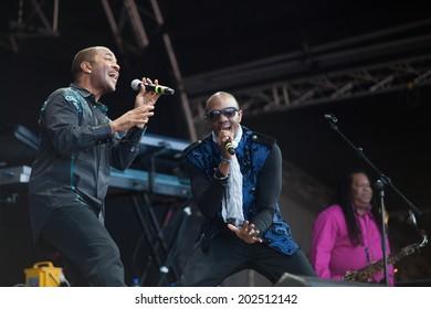Westport,Ireland-June 29th , Kool and the Gang perform live at the Westport Festival,Westport House,County Mayo on June 29th 2014, in Westport,Ireland. The band have sold over 70 million albums.