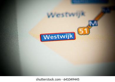Westwijk Station. Amsterdam Metro map.