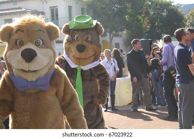 WESTWOOD, CA - DECEMBER 11: Yogi Bear and Boo Boo at the premiere of their movie Yogi Bear at the Regency's Village Theatre December 11, 2010 in Westwood, CA.