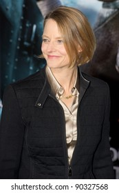 """WESTWOOD, CA - DECEMBER 6: Actress Jodie Foster arrives at the premiere of """"Sherlock Holmes 2: A Game of Shadows"""" at Regency Village Theater on December 6, 2011 in Westwood, California"""