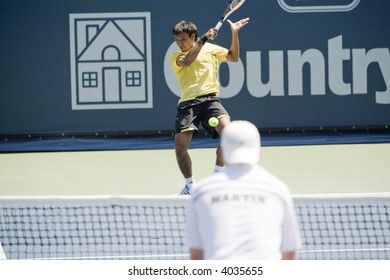 WESTWOOD, CA - JULY 21: Doubles team Sanchai and Sonchat Ratiwatana (pictured) playing against Scott Lipsky and David Martin at the US Open Series Countrywide Classic Semi-Finals on 7/21/07.