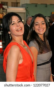 """WESTWOOD, CA - NOVEMBER 05: Maria Conchita Alonso and Natalie Martinez at a Special Presentation of """"Babel"""" in Mann Village November 05, 2006 in Westwood, California"""