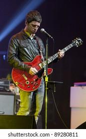 WESTWOOD, CA - NOVEMBER 18: Noel Gallagher performs at UCLA's Royce Hall on November 18, 2011 in Westwood, California.