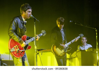 WESTWOOD, CA - NOVEMBER 18: Noel Gallagher performs at UCLA's Royce Hall on November 18, 2011 in Westwood, California.