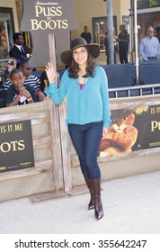 """WESTWOOD, CALIFORNIA - October 23, 2011. Constance Marie at the Los Angeles premiere of """"Puss in Boots"""" held at the Regency Village Theater, Los Angeles."""
