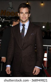 """WESTWOOD, CALIFORNIA - October 26, 2010. Chris Pine at the Los Angeles premiere of """"Unstoppable"""" held at the Westwood Village Theater, Los Angeles."""