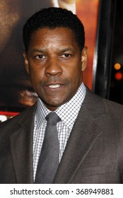 "WESTWOOD, CALIFORNIA - October 26, 2010. Denzel Washington at the Los Angeles premiere of ""Unstoppable"" held at the Westwood Village Theater, Los Angeles."