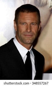 """WESTWOOD, CALIFORNIA - September 15, 2009. Aaron Eckhart at the world premiere of """"Love Happens"""" held at the Mann Village Theater, Westwood, Los Angeles."""