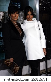 """WESTWOOD, CALIFORNIA - Wednesday February 16, 2011. Kris Jenner and Kim Kardashian at the Los Angeles premiere of """"Unknown"""" held at the Regency Village Theatre, Los Angeles."""
