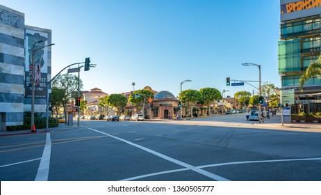 Westwood, California/USA - January 28 2017: Street in Westwood, Los Angeles