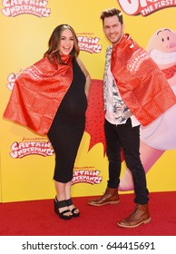 "WESTWOOD - MAY 21:  Andy Grammer and Aijia Grammer arrives to the ""Captain Underpants: The First Epic Movie"" Los Angeles Premiere  on May 21, 2017 in Westwood, CA"