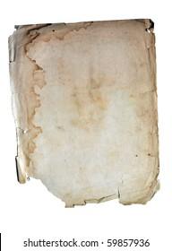 Wet ancient paper copyspace with torn edges