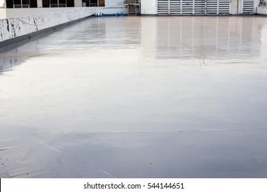 wet cement in terrace , the top floor on the building