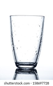 wet clean empty water glass
