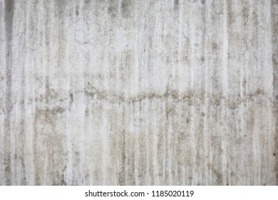 Wet concrete wall at rainy day