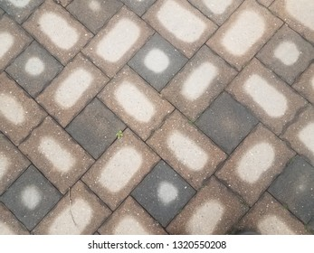 wet and drying stone tiles on ground or background