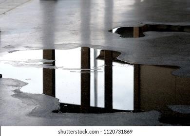 wet floor background