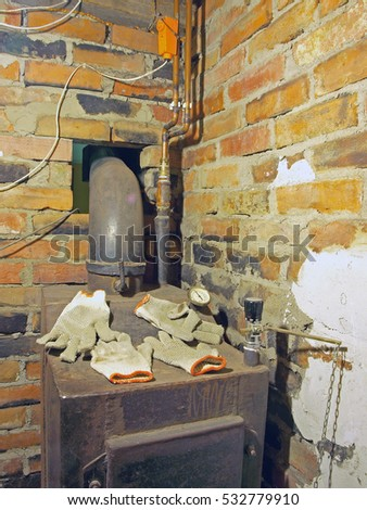 Wet Gloves Dries On Hot Central Stock Photo (Edit Now) 532779910 ...
