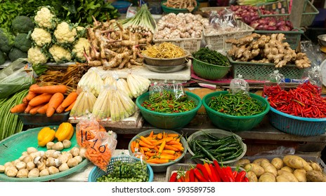 Wet market with variety vegetable