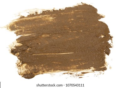 Wet mud isolated on white background, top view